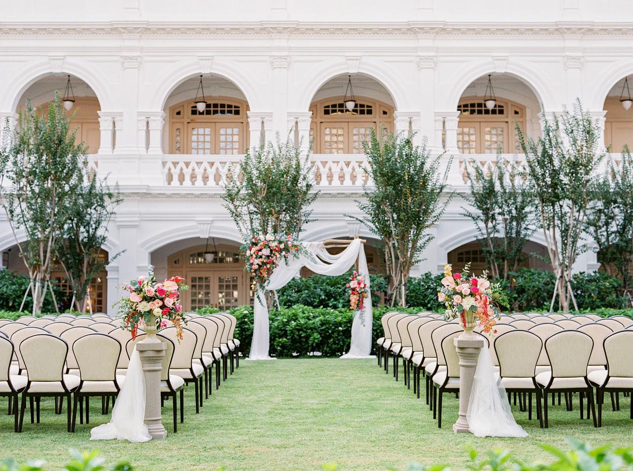 Elegant Raffles Hotel Singapore Wedding 44