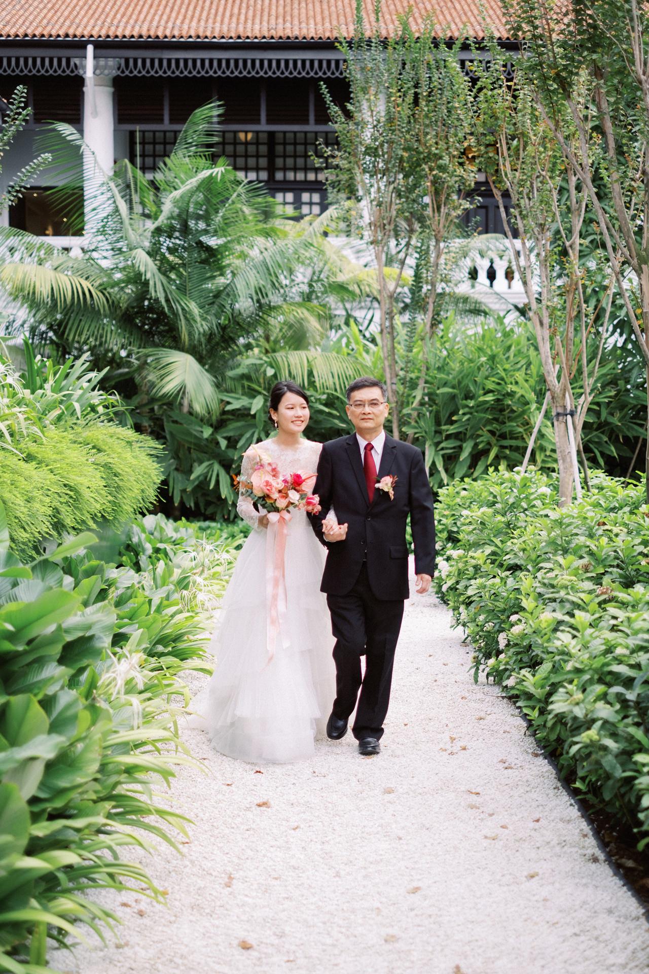 Elegant Raffles Hotel Singapore Wedding 47
