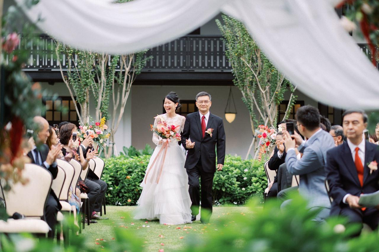 Elegant Raffles Hotel Singapore Wedding 48