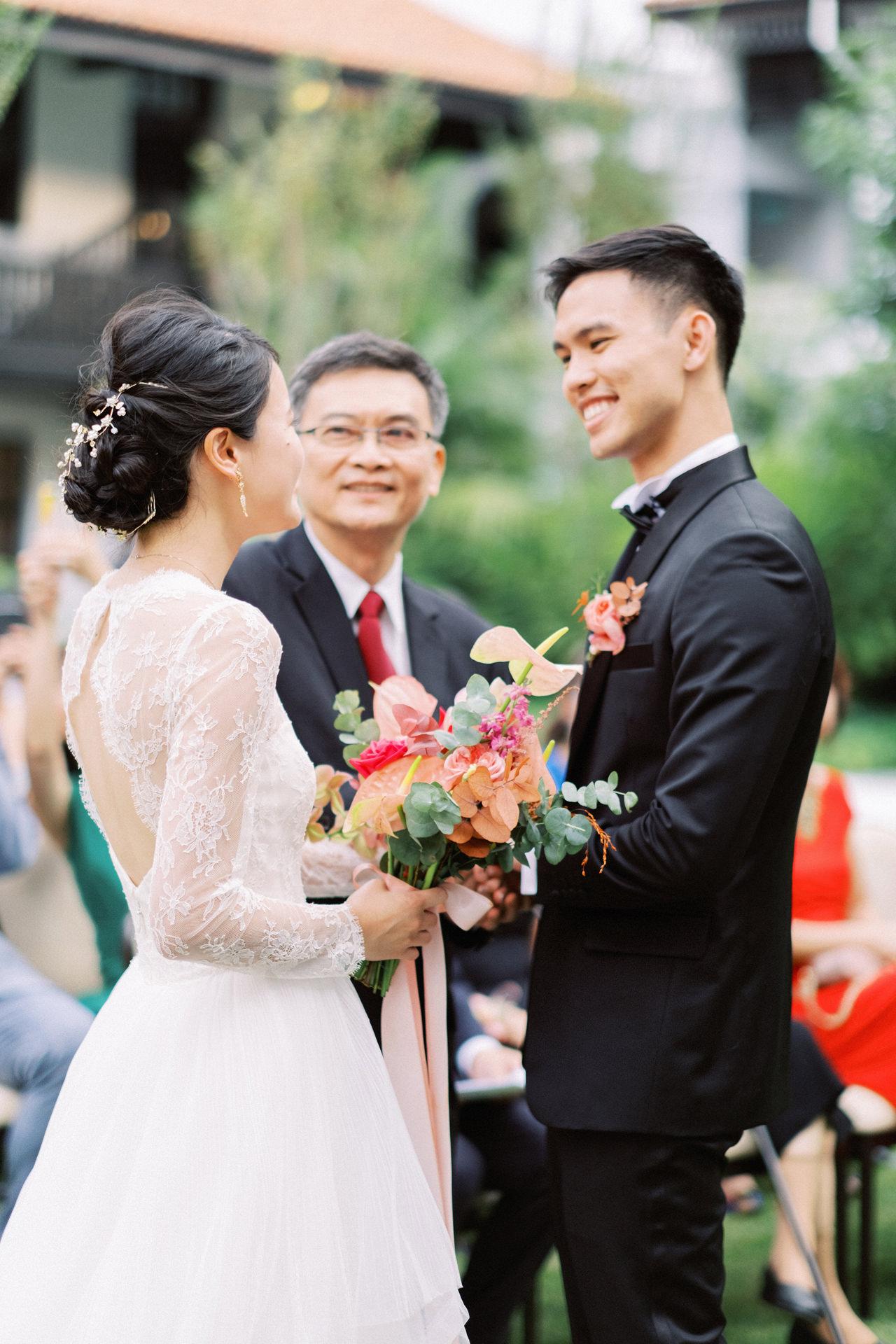 Elegant Raffles Hotel Singapore Wedding 49