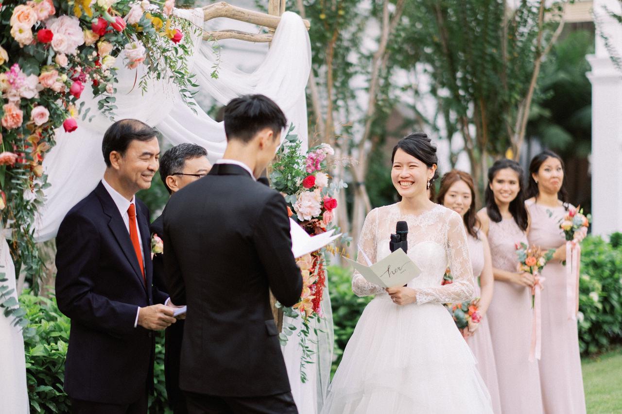 Elegant Raffles Hotel Singapore Wedding 51