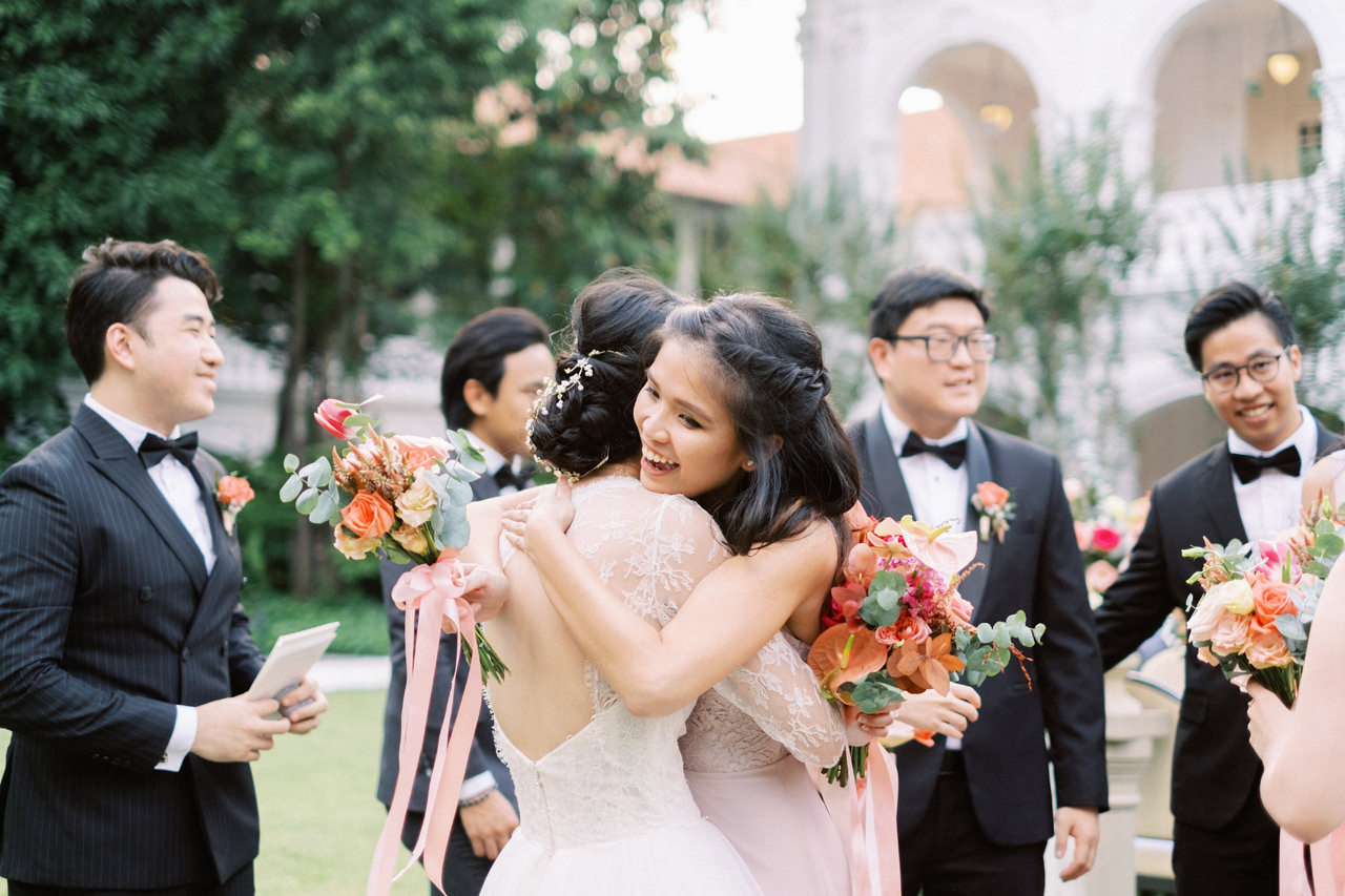 Elegant Raffles Hotel Singapore Wedding 54