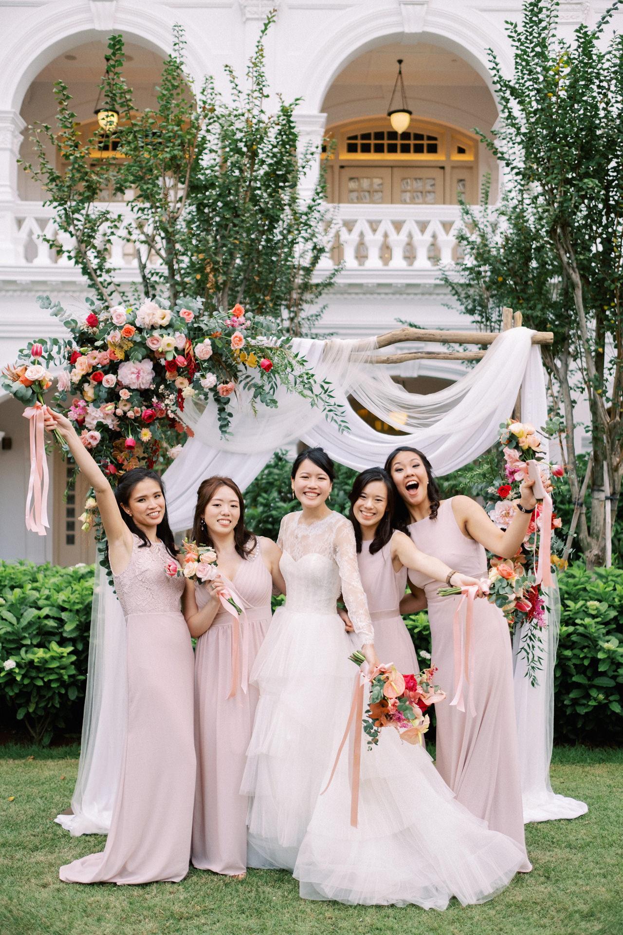 Elegant Raffles Hotel Singapore Wedding 55