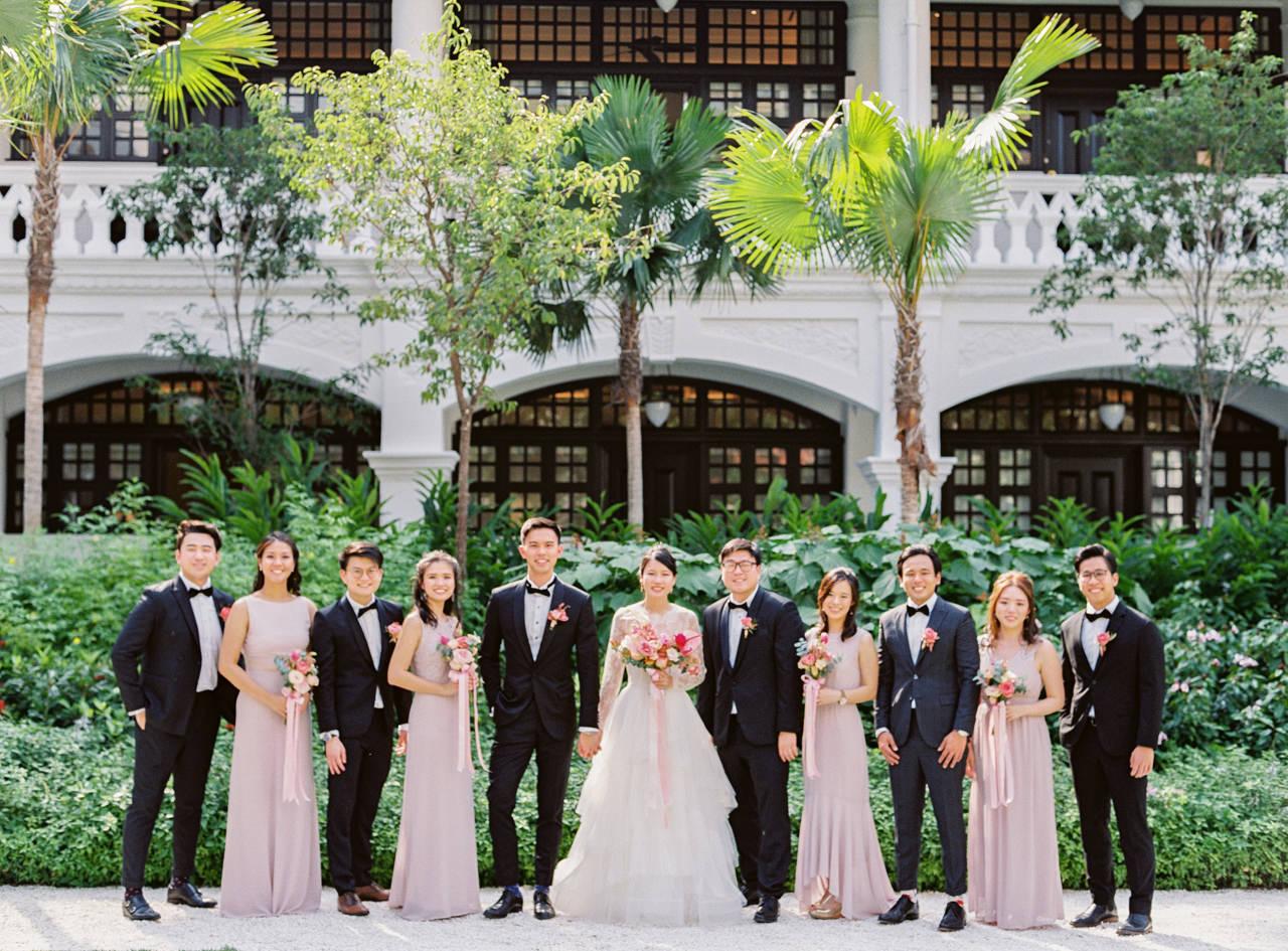 Elegant Raffles Hotel Singapore Wedding 56