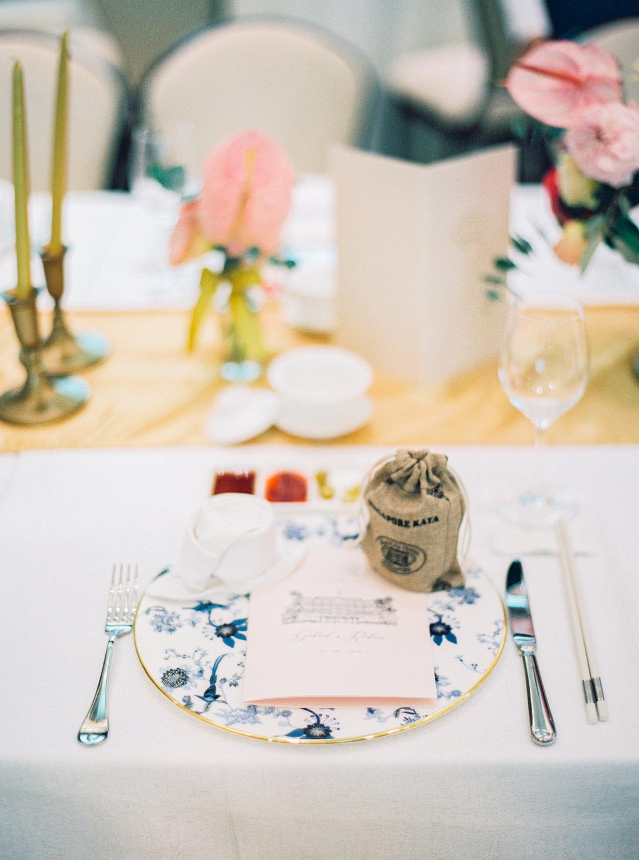 Elegant Raffles Hotel Singapore Wedding 57