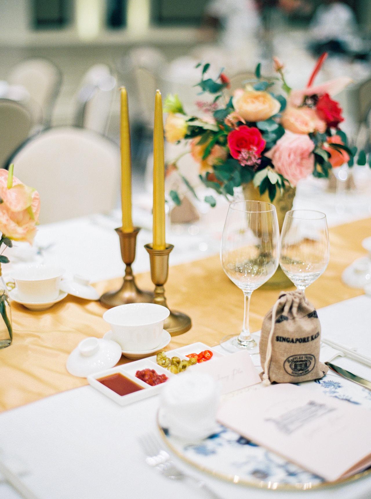 Elegant Raffles Hotel Singapore Wedding 61