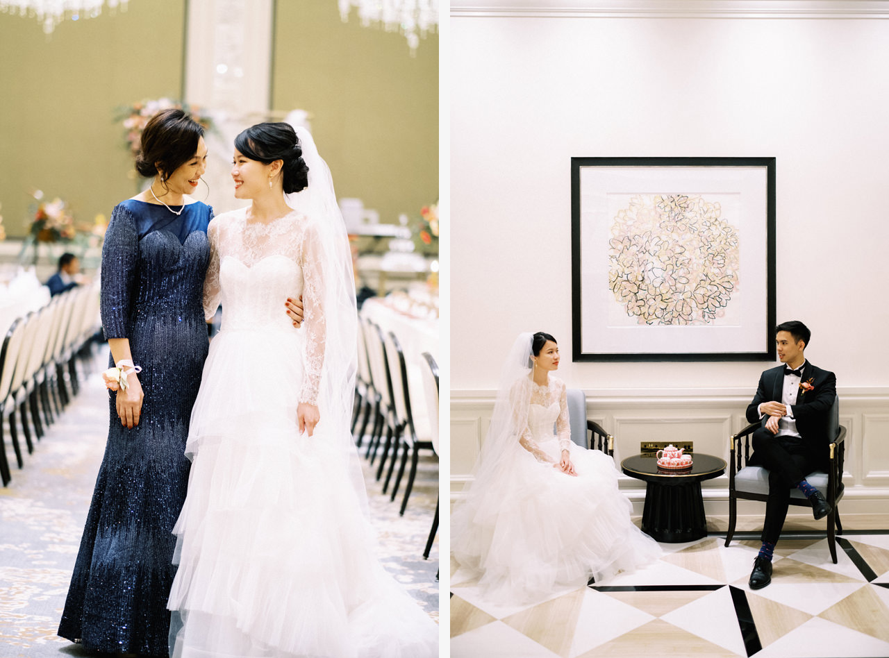 Elegant Raffles Hotel Singapore Wedding 64