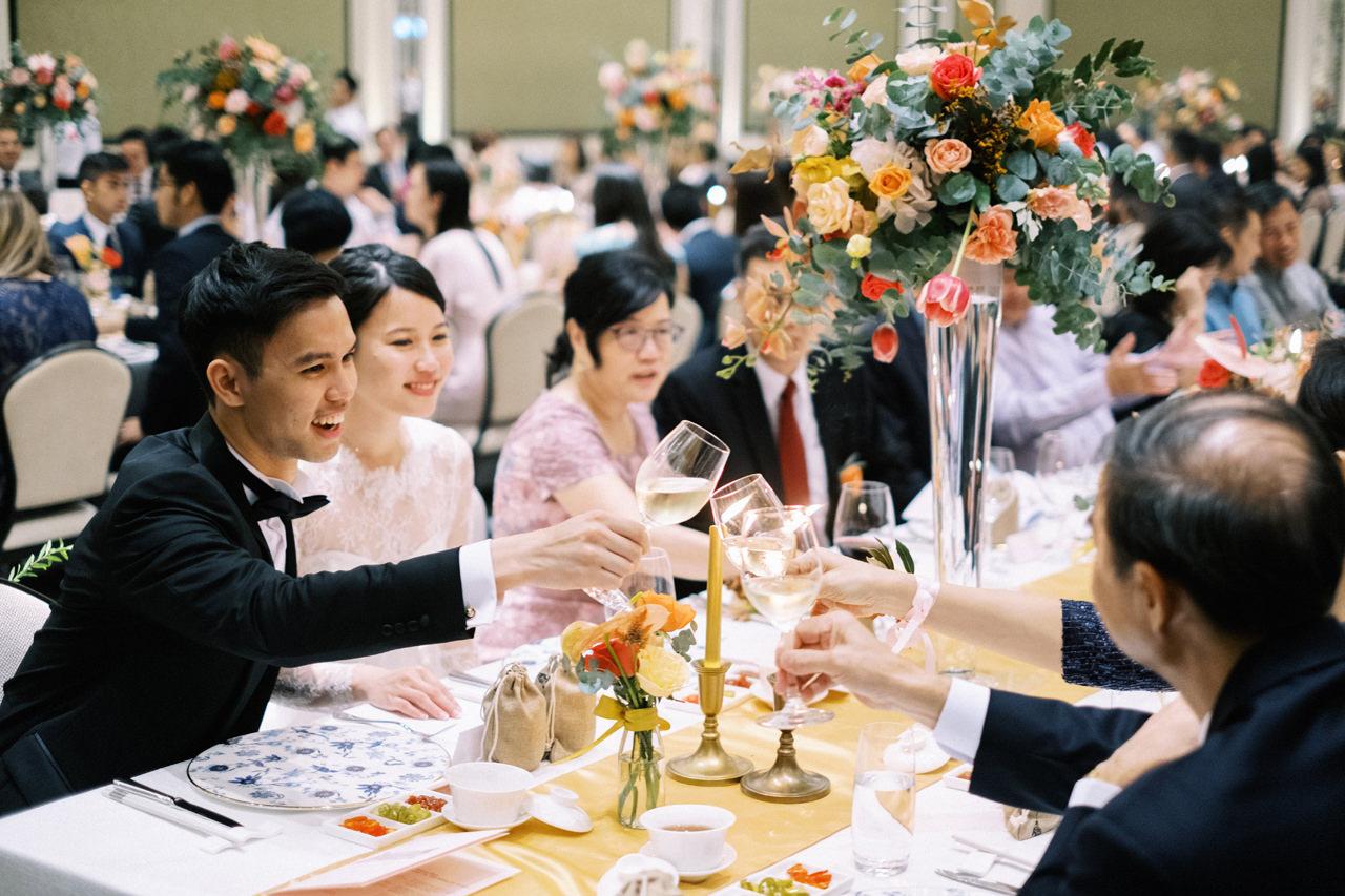 Elegant Raffles Hotel Singapore Wedding 67