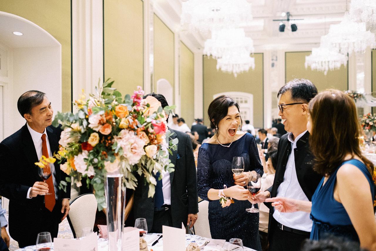 Elegant Raffles Hotel Singapore Wedding 69
