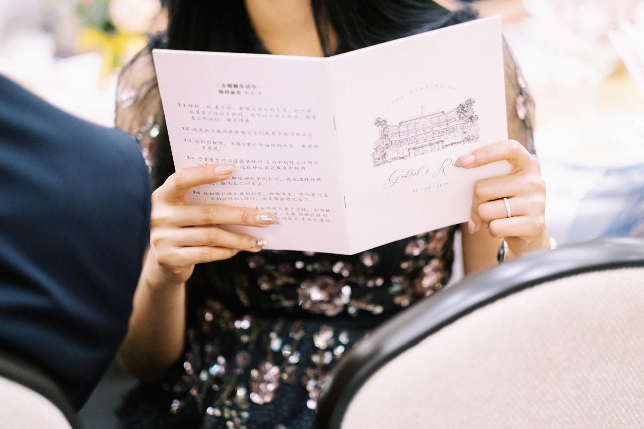 Elegant Raffles Hotel Singapore Wedding 70