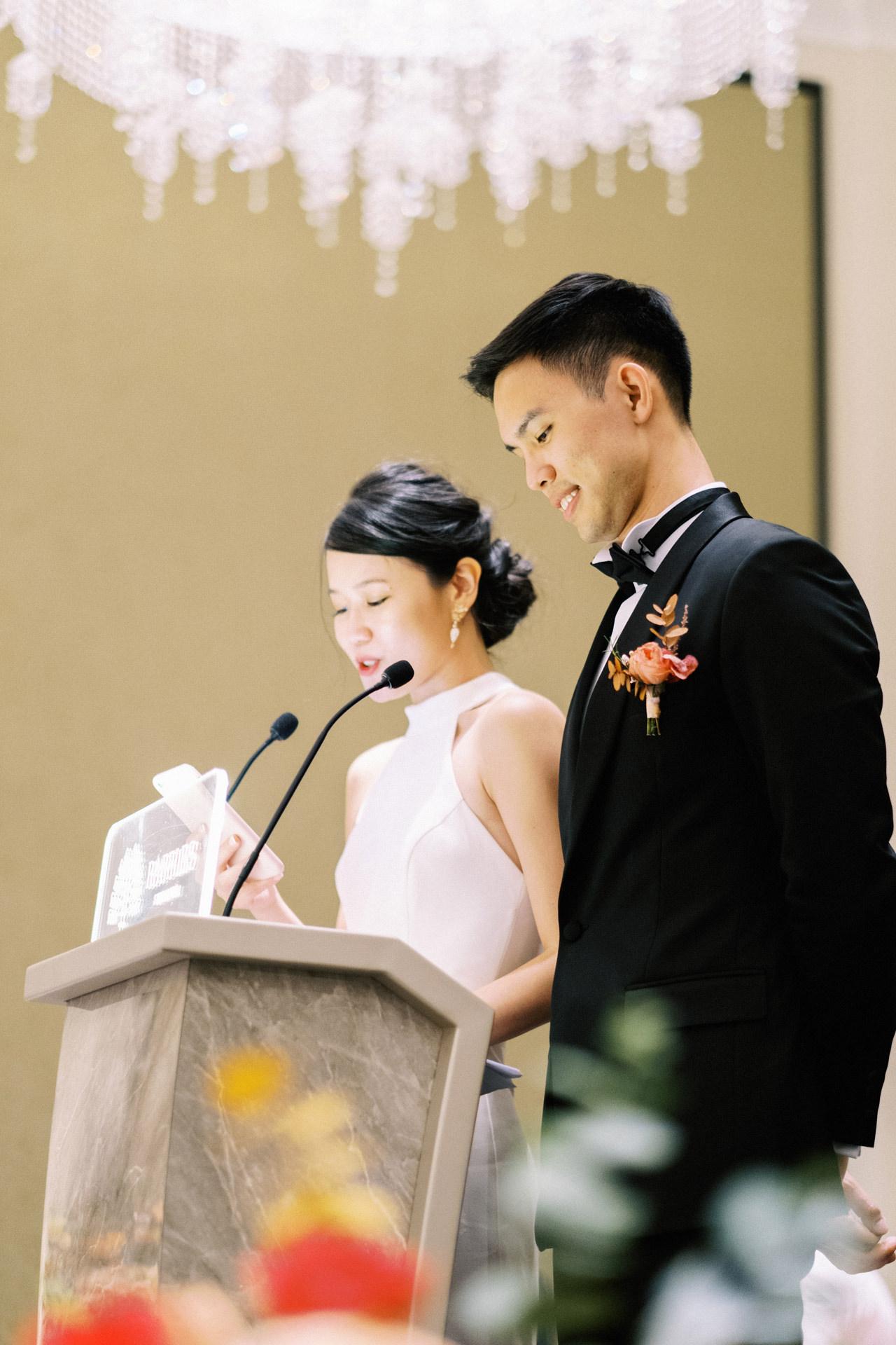 Elegant Raffles Hotel Singapore Wedding 71