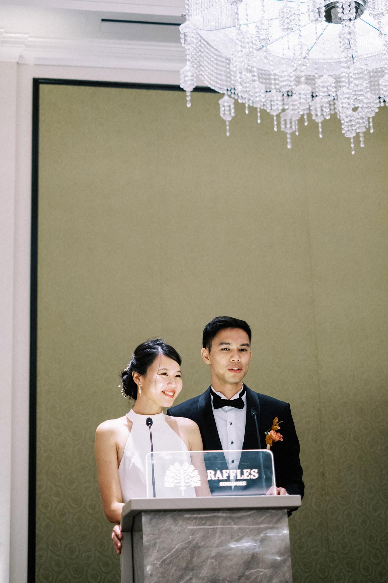 Elegant Raffles Hotel Singapore Wedding 72