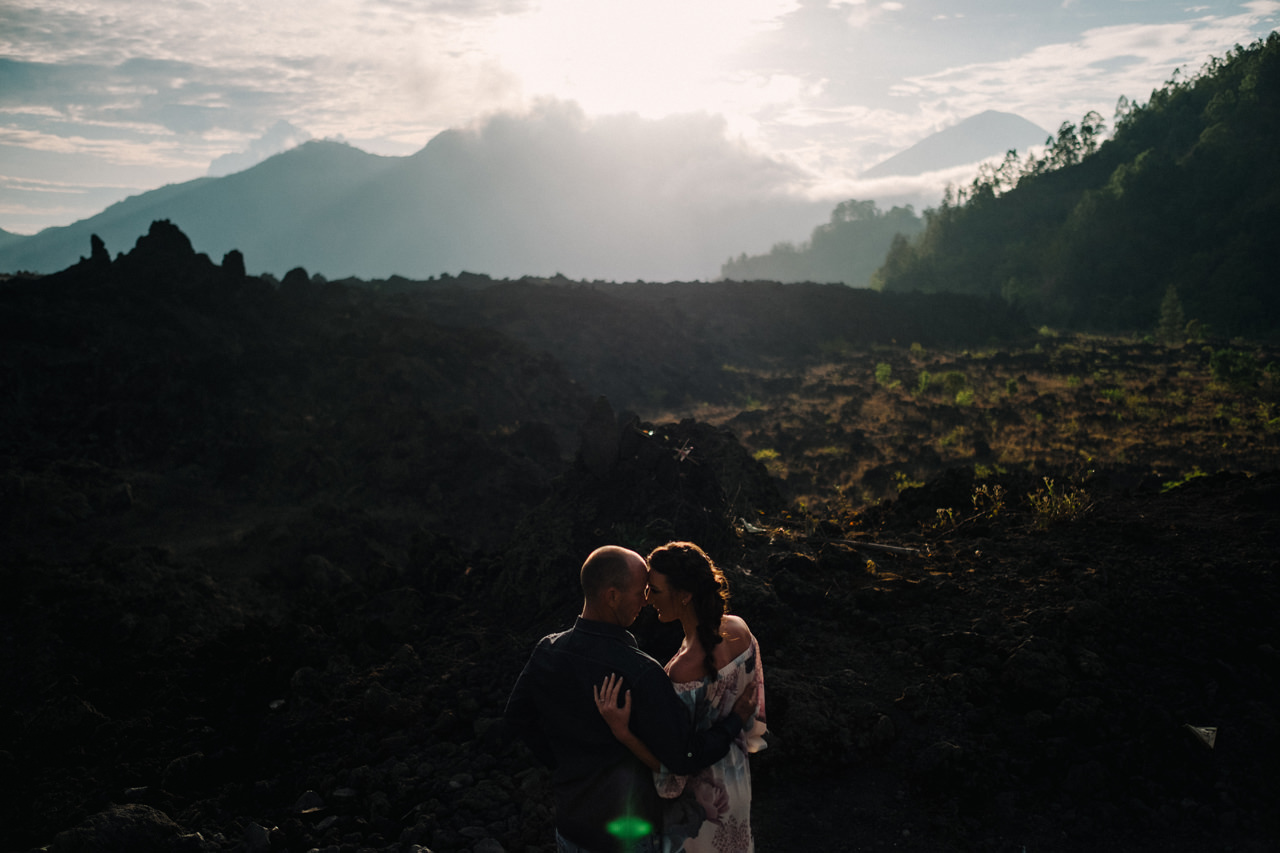 K&R: Adventurous Mount Batur Bali Engagement Photography 1