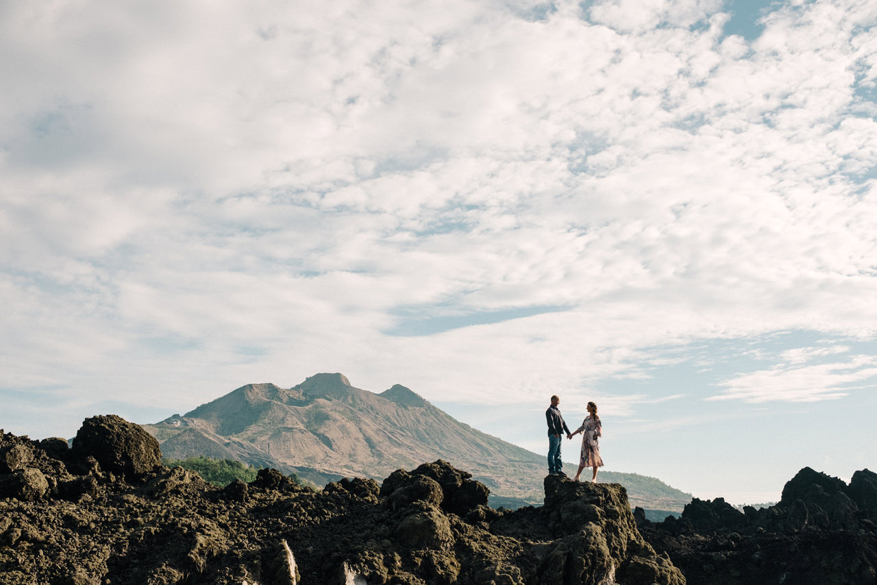 K&R: Adventurous Mount Batur Bali Engagement Photography 6