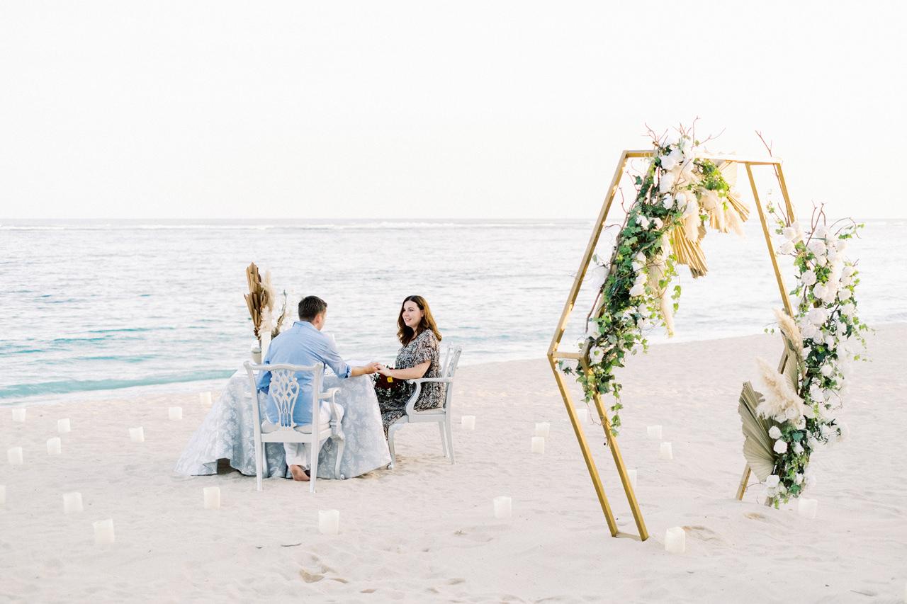 R&K: Beachside St. Regis Bali Dinner Proposal 17