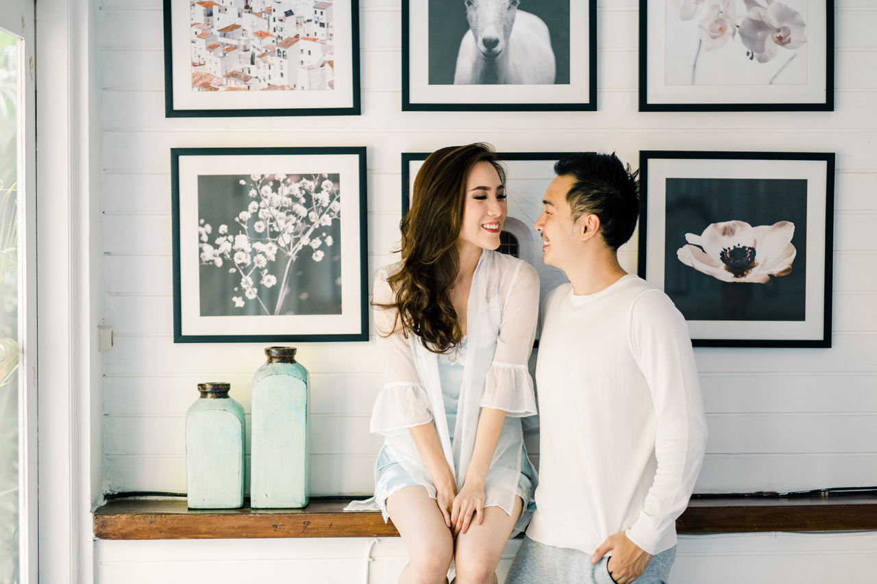 S&A: Intimate At Home Engagement Session 13