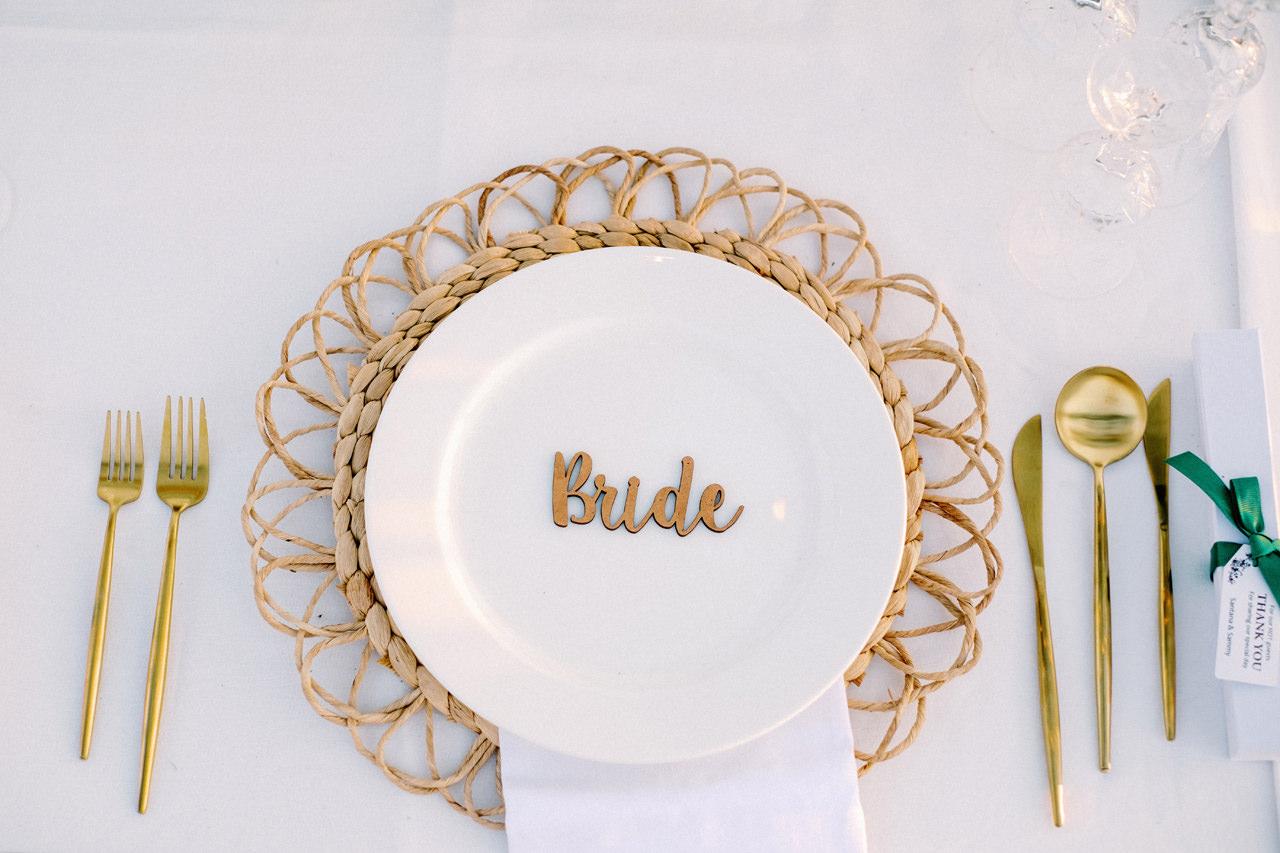 Bali Dining Table Wedding Decoration