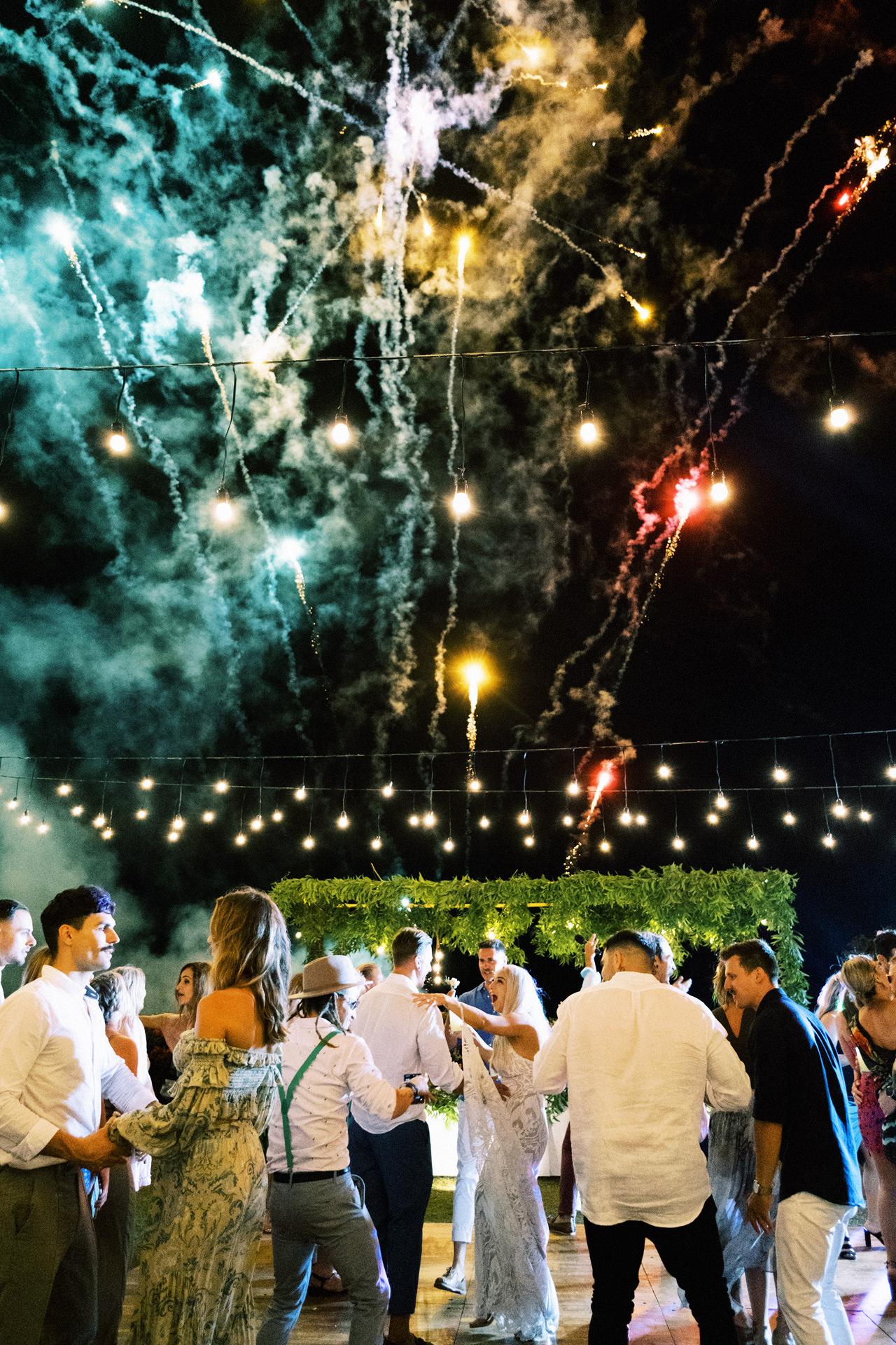 Fireworks Bali Wedding