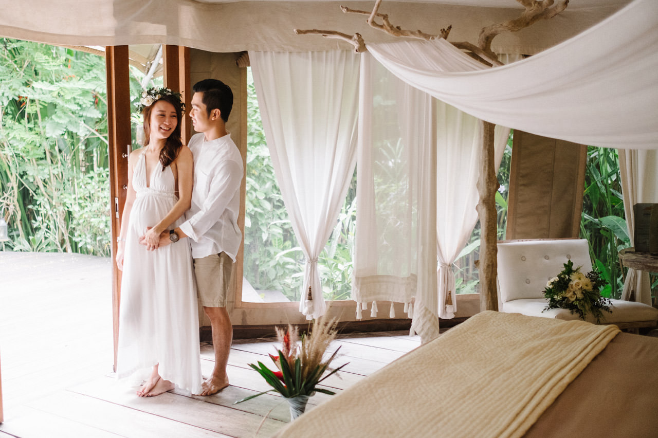 Sara & Lee: Tropical Ubud Babymoon Photography 12