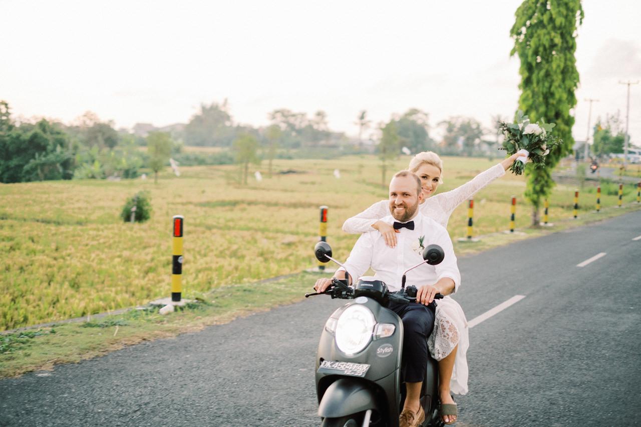 Bali Wedding with Motor Cycle