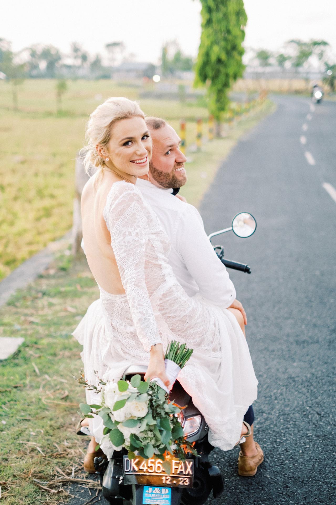 Bali Wedding with Bike