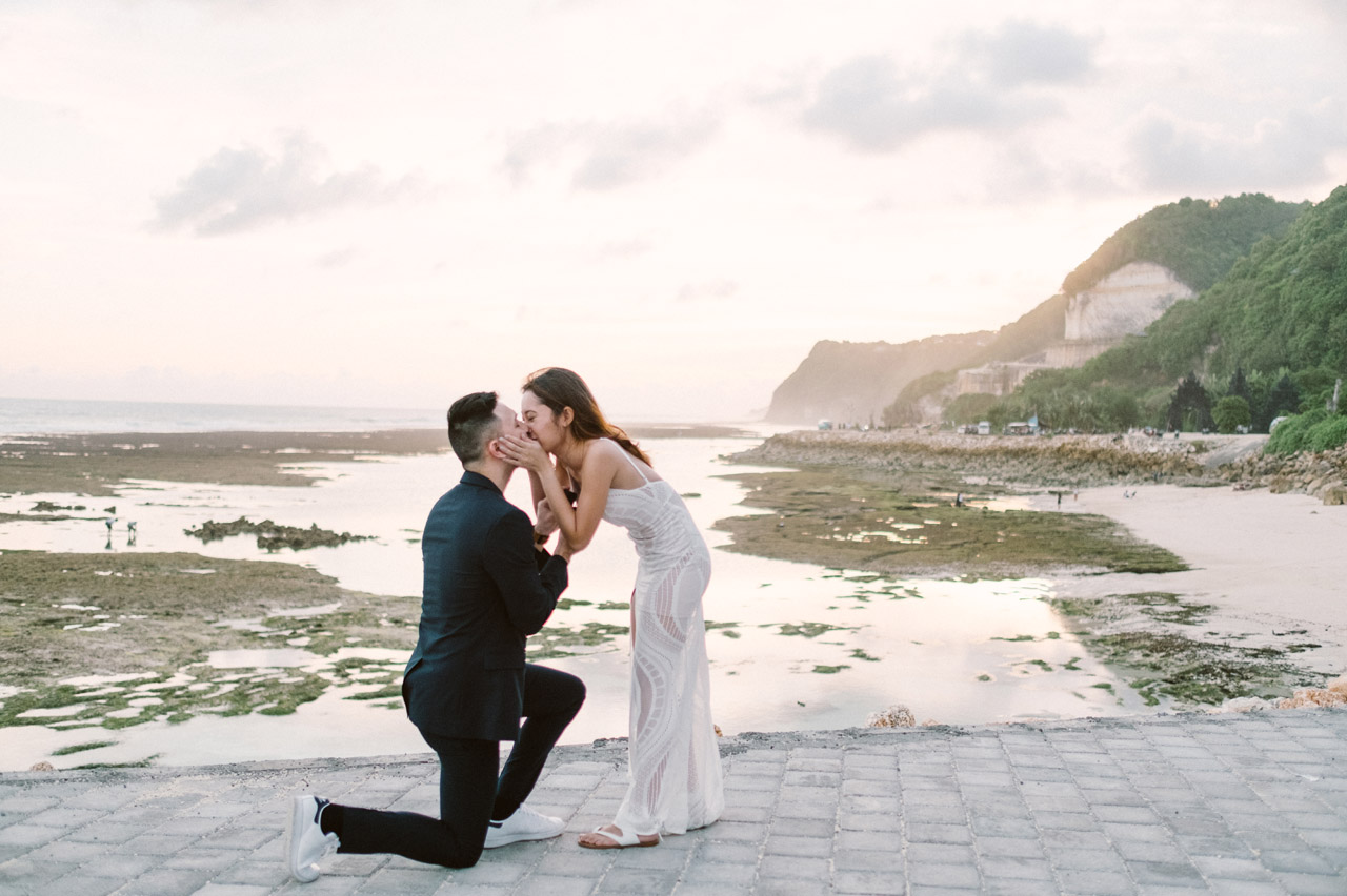 Scott & Natalie: Romantic Surprise Proposal at Bali's Beach 22