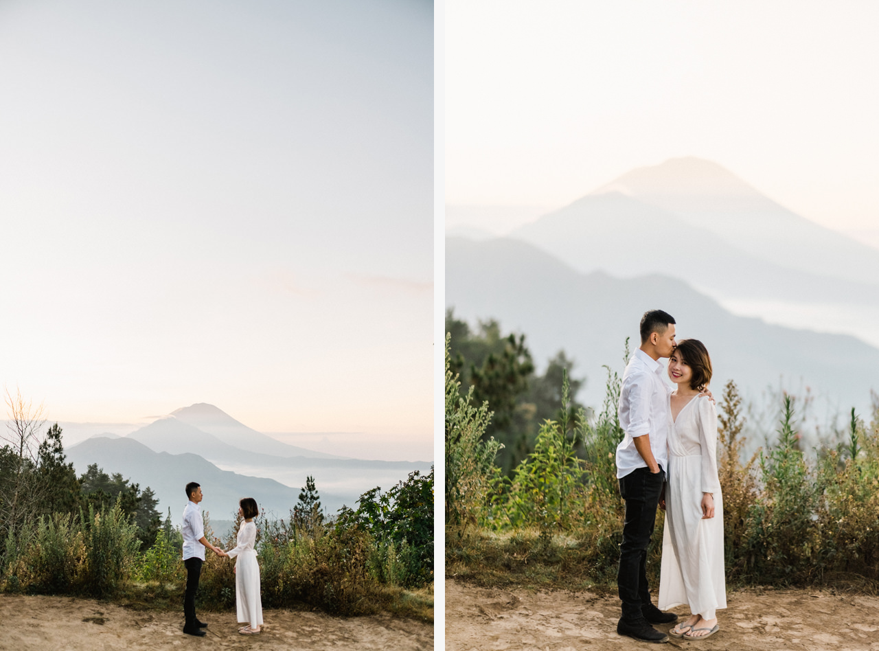 T&K: Bali Prewedding Photo Session in The Mountains 1
