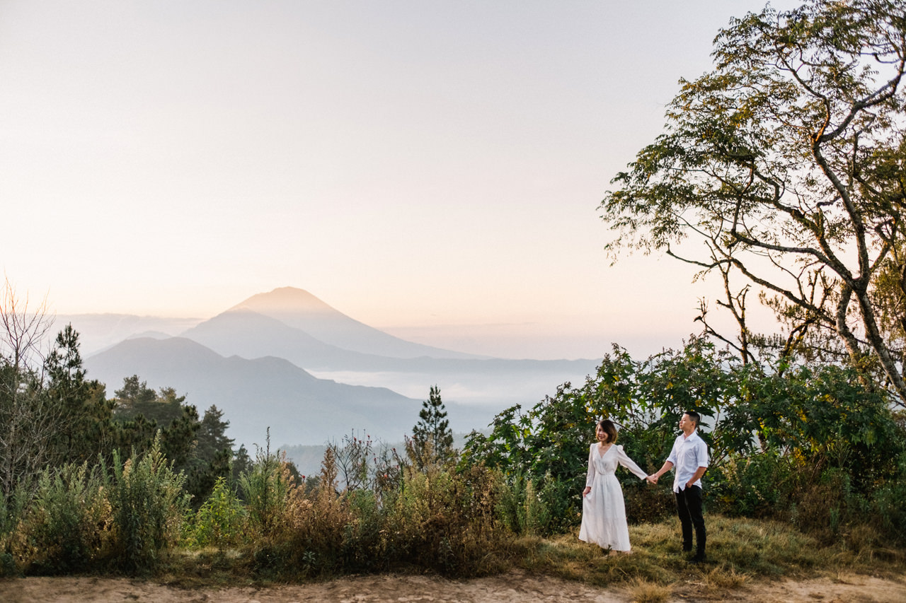 T&K: Bali Prewedding Photo Session in The Mountains 2