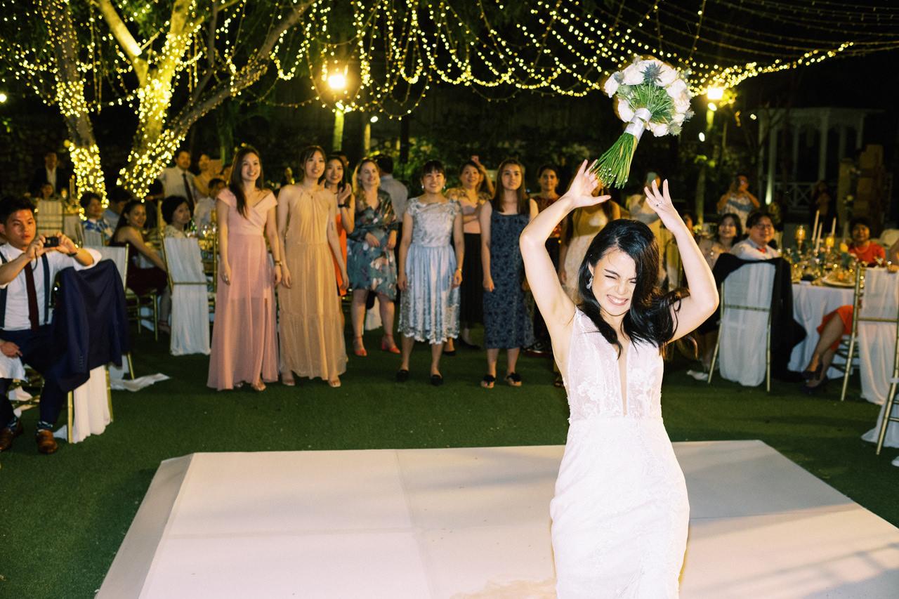 Throwing Bouquet Bali Wedding