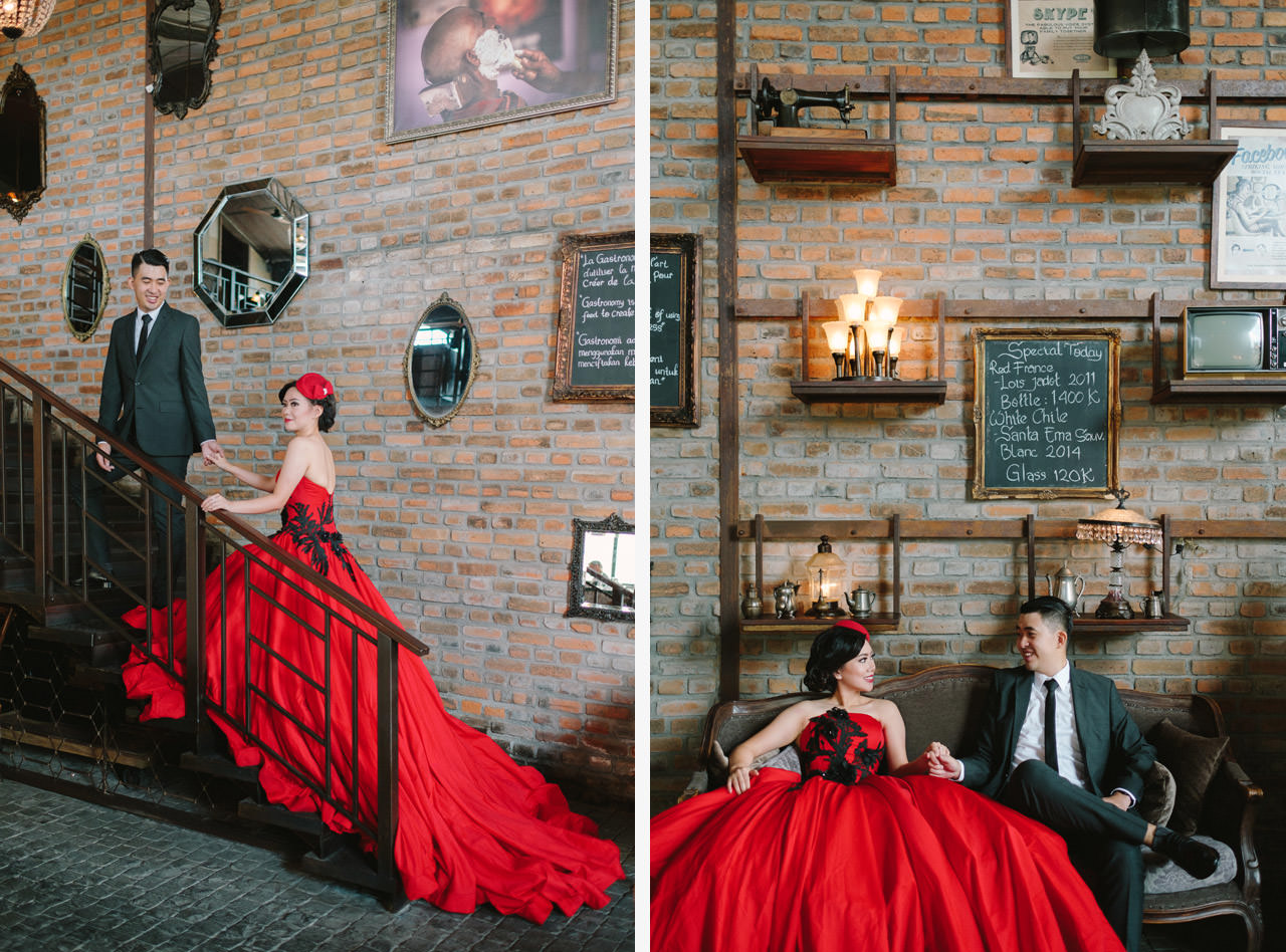 Willyam & Tania: Glamour Prewedding Photography at The Bistrot Bali 5