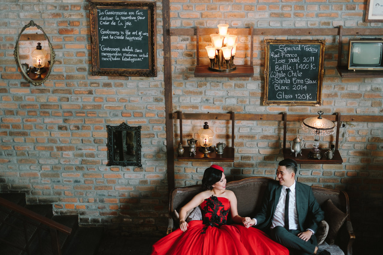 Willyam & Tania: Glamour Prewedding Photography at The Bistrot Bali 7