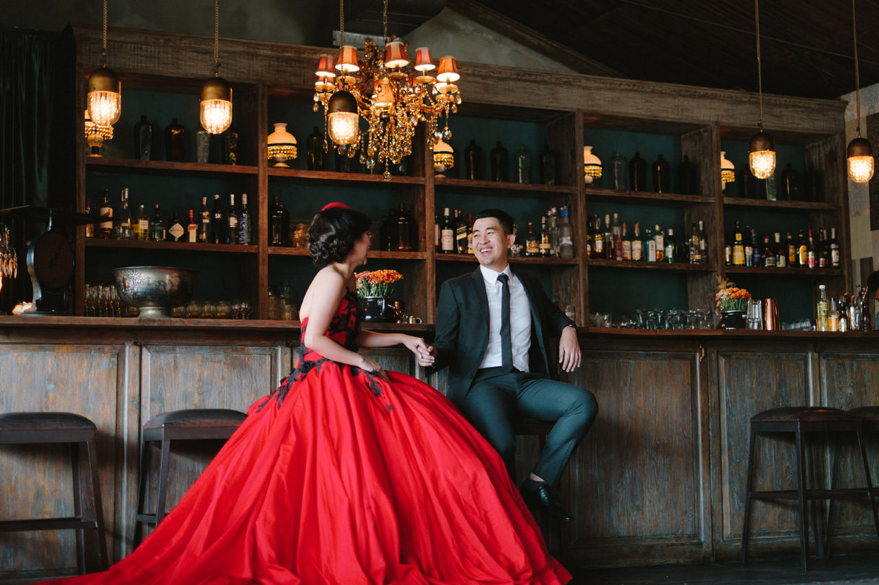 Willyam & Tania: Glamour Prewedding Photography at The Bistrot Bali 14