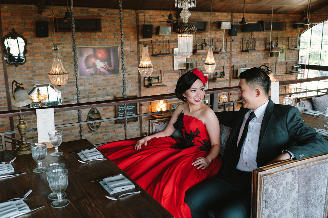 Willyam & Tania: Glamour Prewedding Photography at The Bistrot Bali 15