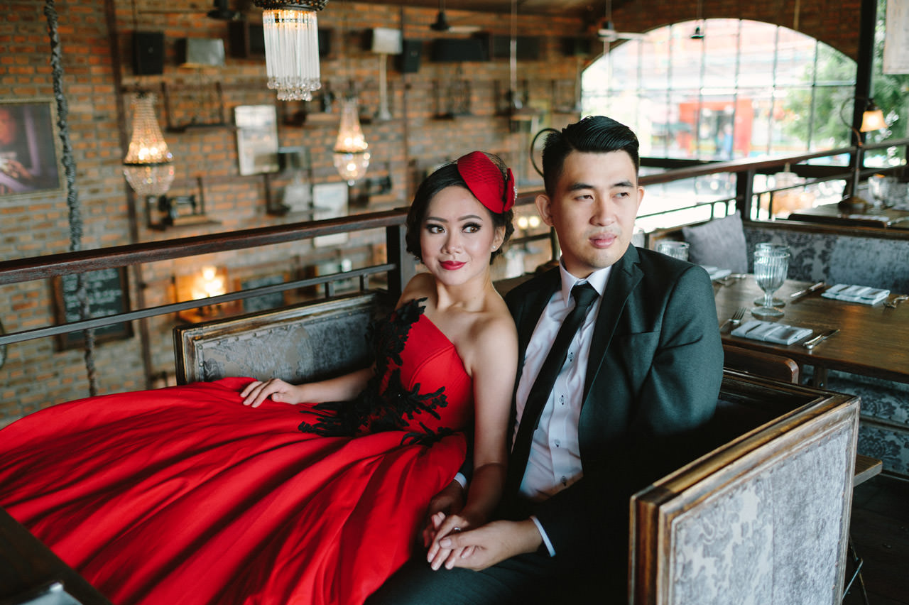 Willyam & Tania: Glamour Prewedding Photography at The Bistrot Bali 17