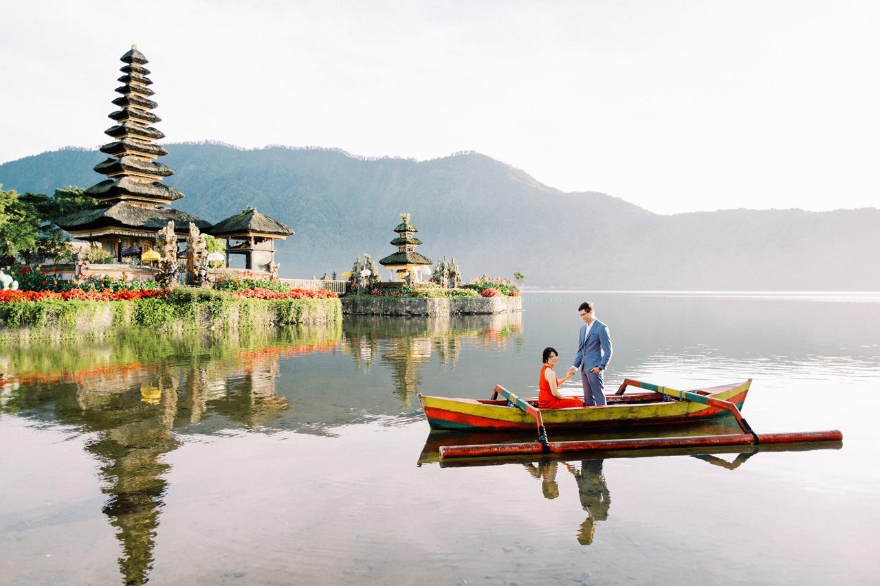 Lake Beratan Temple Bali Prewedding
